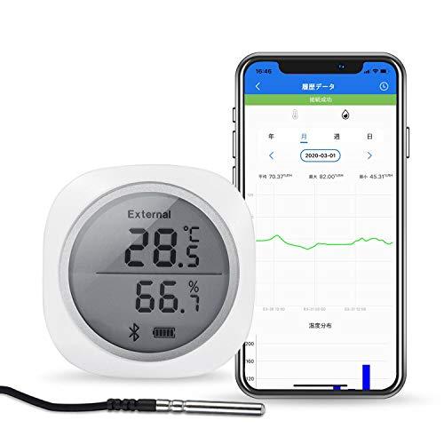 Inkbird Bluetooth温湿度計 デジタル 温度計 湿度計 スマートセンサー LCD大画面表示 温湿度 データロガー 温湿度レコーダー (IBS-TH1 プラス)