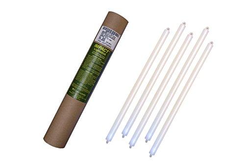 Cyalume - Paquete de 20 tubos luminosos SnapLight Impact, 40 cm, 15 pulgadas, 2 Anillas, 8 horas, no-embalados individualmente, color blanco