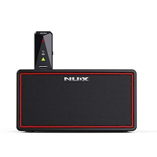 Muslady Mini Amplificador de Bajo de Guitarra Eléctrica de Modelado Estéreo Inalámbrico...