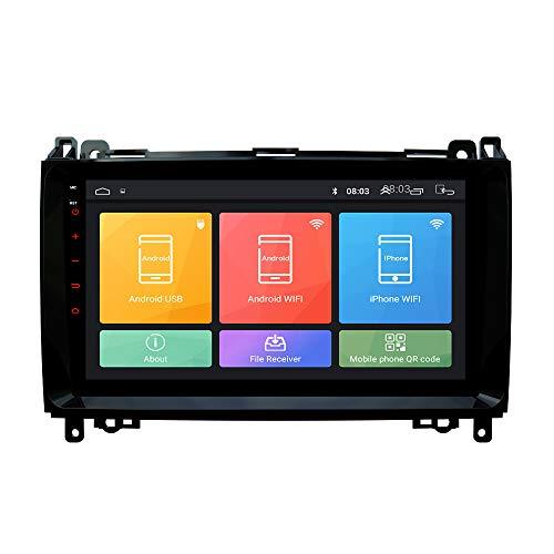 Android 9.1 Autoradio Navigation en voiture Headunit Stéréo Lecteur multimédia GPS Radio 2.5D IPS Écran tactile PourBenz W169/W245 (2004-2012)Viano/Vito(W639)Sprinter W906/W209/W311/W315/W318 (2006-2016)