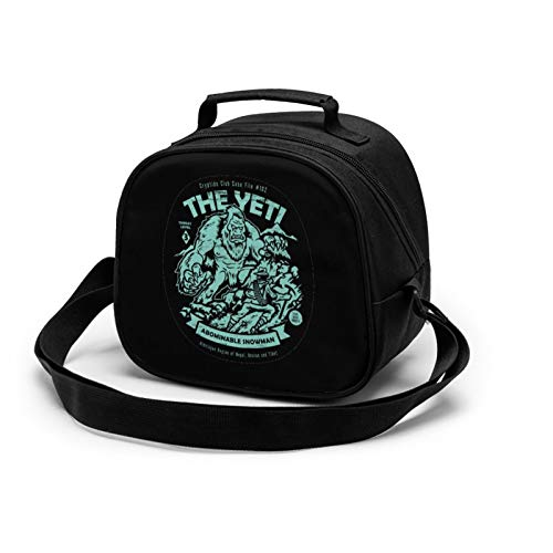 The Yeti - Cryptids Club Case File #102 Lunch Box Insulated Lunch Bag Reusable Cooler Meal Prep Bags Lunch Tote With Shoulder Strap For School Kids Girls Teens