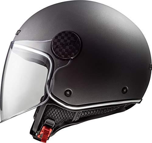 LS2 Casco de moto OF558 SPHERE LUX MATT TITANIUM, Titanium, S (305585007S)