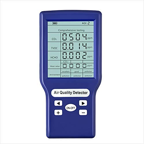 Docooler Multifunktionale CO2 ppm-Messgeräte,Mini-Kohlendioxid-Detektor Gasanalysator Protable Air Quality Tester