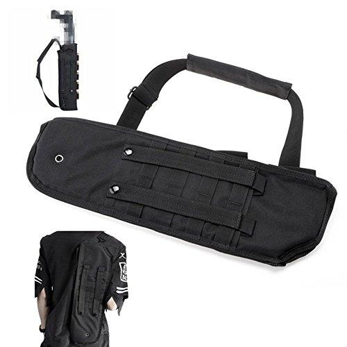 ZKer 19' Tactical Shotgun Shoulder Bag Rifle Sling Backpack Pistol Shotgun Scabbard Holster Molle Rifle Sling Padded Case Bag Gun Storage Pouch for Outdoor Hunting