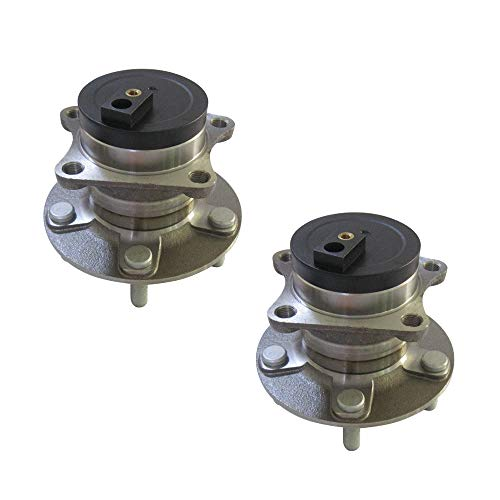 DRIVESTAR 512349 FWD Rear Wheel Hub & Bearing Assembly Driver/Passenger for Mazda CX-7 2007 08 09 10 11 2012(FWD w/ABS 5 Lugs)(Pair)