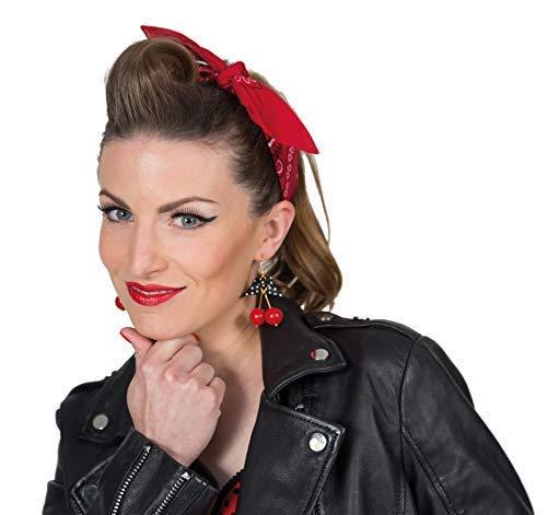 Karnevalsmanufaktur Ohrringe Kirsche Rockabilly Cherry