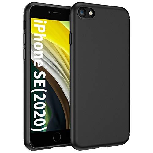 EasyAcc Hülle Hülle für iPhone 7 / iPhone 8, Schwarz TPU Handyhülle Matte Oberfläche Handyhülle Schutzhülle Schmaler Handyschutz Kompatibel mit das iPhone 7/8 4.7''