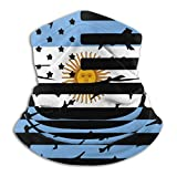 Argentina American Flag Men's Women's Outdoor Face Mouth Cover Windproof Sports Mask Shield Scarf Bandana Neck Headwear For...