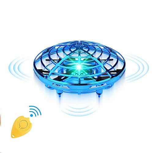 Copeak Hand Operated Drone for Kids Adults - Hands Free Mini Drones Helicopter Ball for Kids Flying Toys Gifts for Boys and Girls Hand Drone Small Orb Flying Ball Drone Toys 6 7 8 9 10 Years Old Kids