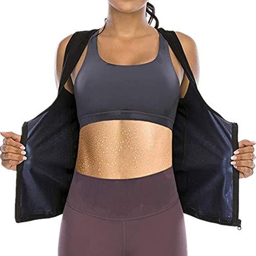 Traje de sauna de entrenamiento para mujer, chaleco de sudor, sauna, camisa de neopreno para mujer, manga larga, para entrenamiento de cintura, para deporte