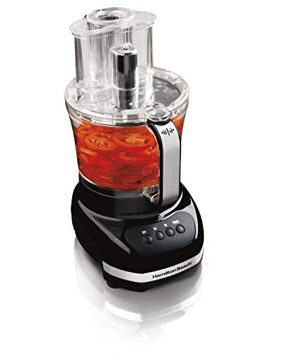 Hamilton Beach Big Mouth Duo Plus 12-Cup Food Processor & Vegetable Chopper with Additional Mini 4-Cp Bowl, Black (70580)