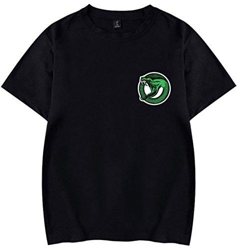 OLIPHEE T-Shirt Sportive Basic Top Casuale A Manica Corta B-Nero Medium