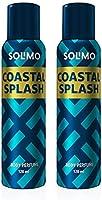 Solimo No Gas Deodorant - Pack of 2 (Coastal Splash)