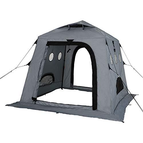 DOD(ディーオーディー) ワカサギ釣り 用 テント ワンタッチ構造 で 簡単 組み立て T2-608-GY T2-608-YL 1-2...