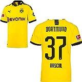 PUMA Borussia Dortmund BVB Heimtrikot 2019 2020 Home Trikot Sponsor BL Logo Herren Tobias Raschl 37 Gr M
