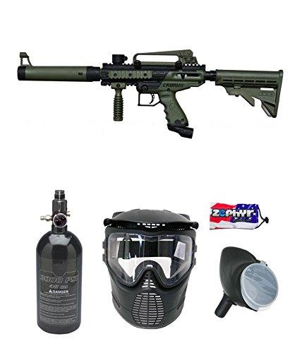Maddog Tippmann Cronus Tactical Beginner HPA Paintball Gun Package - Black/Olive
