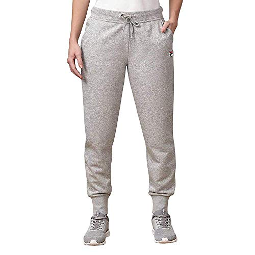 Fila Women's Heritage French Terry Jogger, Grey, Large