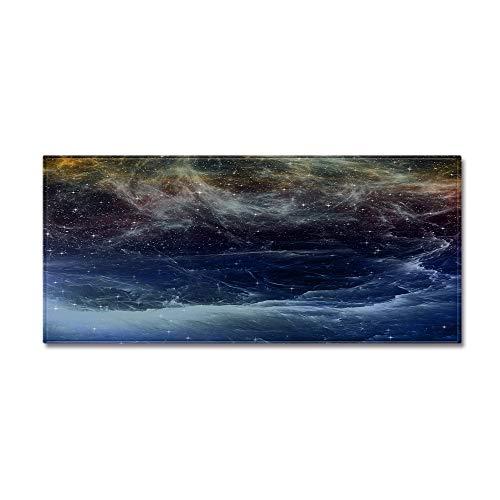 OPLJ Alfombra de Entrada Estera con Estampado de Cielo Estrellado para Dormitorio Sofá Suave Alfombra de Sala de Estar Alfombra Antideslizante Lavable Alfombras de baño de Cocina A5 60x180cm