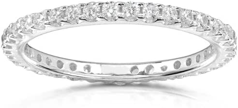 Ranking TOP12 Kobelli Diamond Eternity Band Clearance SALE Limited time 1 2 14K carat White ctw Gold in