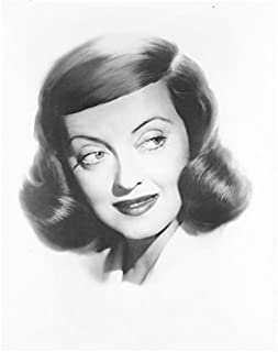 Bette Davis 8x10 Inch Photo All About Eve What Ever Happened to Baby Jane Head Shot Hair Parted on Left Looking Left kn