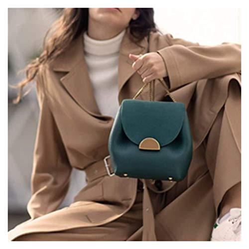 LIWEIKE Bolsas de cucharón de diseño de Lujo Nuevo 2020 Pequeñas Cadenas Handbags Mujer Bolsa de Hombro de Cuero Lady Francia Fama Marca Cruz Bolsa de Cuerpo (Color : 005, Size : 17cm)
