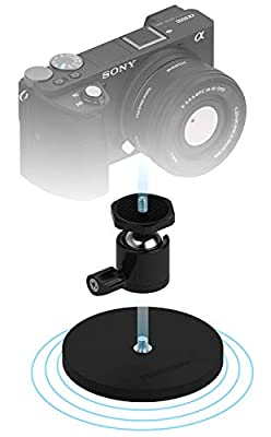Sabrent Rubber-Coated Magnetic Mount for Action Cam/Cameras and Small DSLR (CS-MG88) by Sabrent