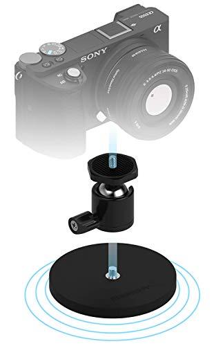 Sabrent gummibeschichtete Magnethalterung für Action Cams/ Kameras und kleine DSLR (CS-MG88)