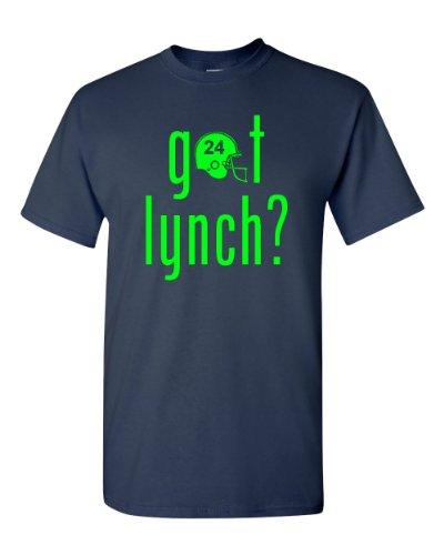 Got Lynch? Seattle Football Adult T-Shirt Tee (Large, Navy)
