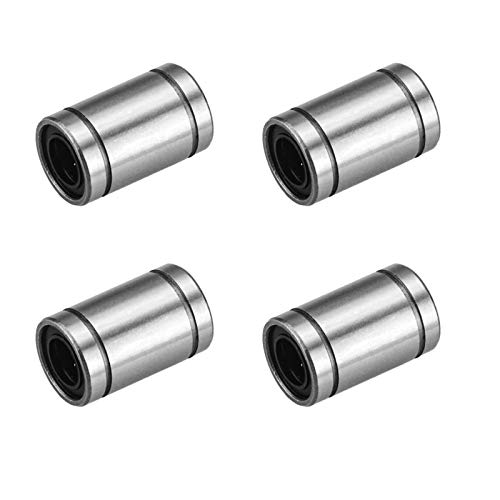 4 Pcs LM3UU Linear Ball Bearings,3mm Bore Dia,7mm OD,10mm Length with Double Side Rubber Seal Great for CNC,3D Printer