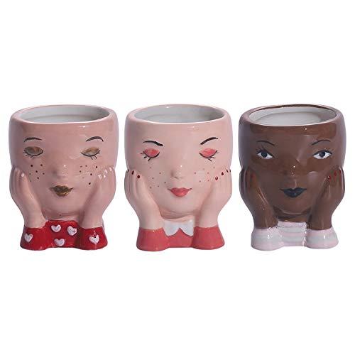 Cute Girls Flowerpots Ceramic Succulent Planter for Home Office