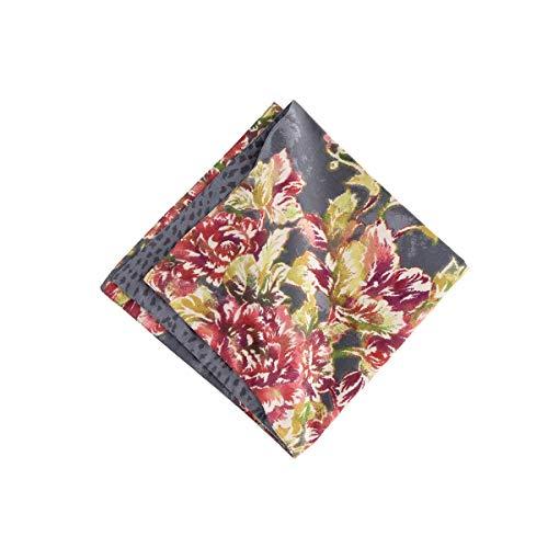 C&F Home Regina Napkin Set of 6 Oversized Reversible Cotton Floral Botanical Dinner Napkin Cloth For Table Decor Napkin Set of 6 Grey