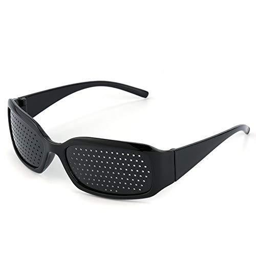 FREESOO Anteojos Gafas Reticulares Agujeros Lectura vidrios del Agujero de Alfiler, Anti-Fatiga, la Prevención de la Miopía Color Negro