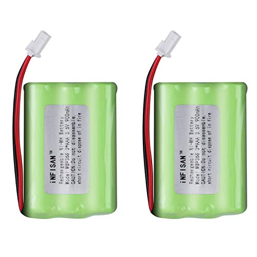 2Pack iNFISAN 3.6V 900mAh MBP36 Ni-MH Baby Monitors Replacement Battery Compatible with Motorola GRACO 2791 2795 MBP36, MBP27T, MBP33, MBP33S, MBP33PU, MBP36S, MBP36PU