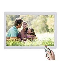 デジタルフォトフレームモーションセンサーとリモートコントロールデジタルフォトフレーム付き12インチHD 16:9ワイドスクリーンLEDスクリーンデジタルフォトフレーム,White