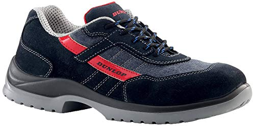 Dunlop Fast Response - Chaussures de sécurité S1P SRC couleur, Noir/Gris/Rouge, 39 EU