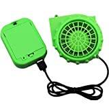Inflatable Dinosaur Costume Blower Fan Replacement Blow up Potable Fans for Halloween Christmas Cosplay Doll Mascot Head or Other Inflatable Game Clothing Suits, USB Mini Upgrade Originals Fan Costume and Battery Pack Replacement, Green Air Pump