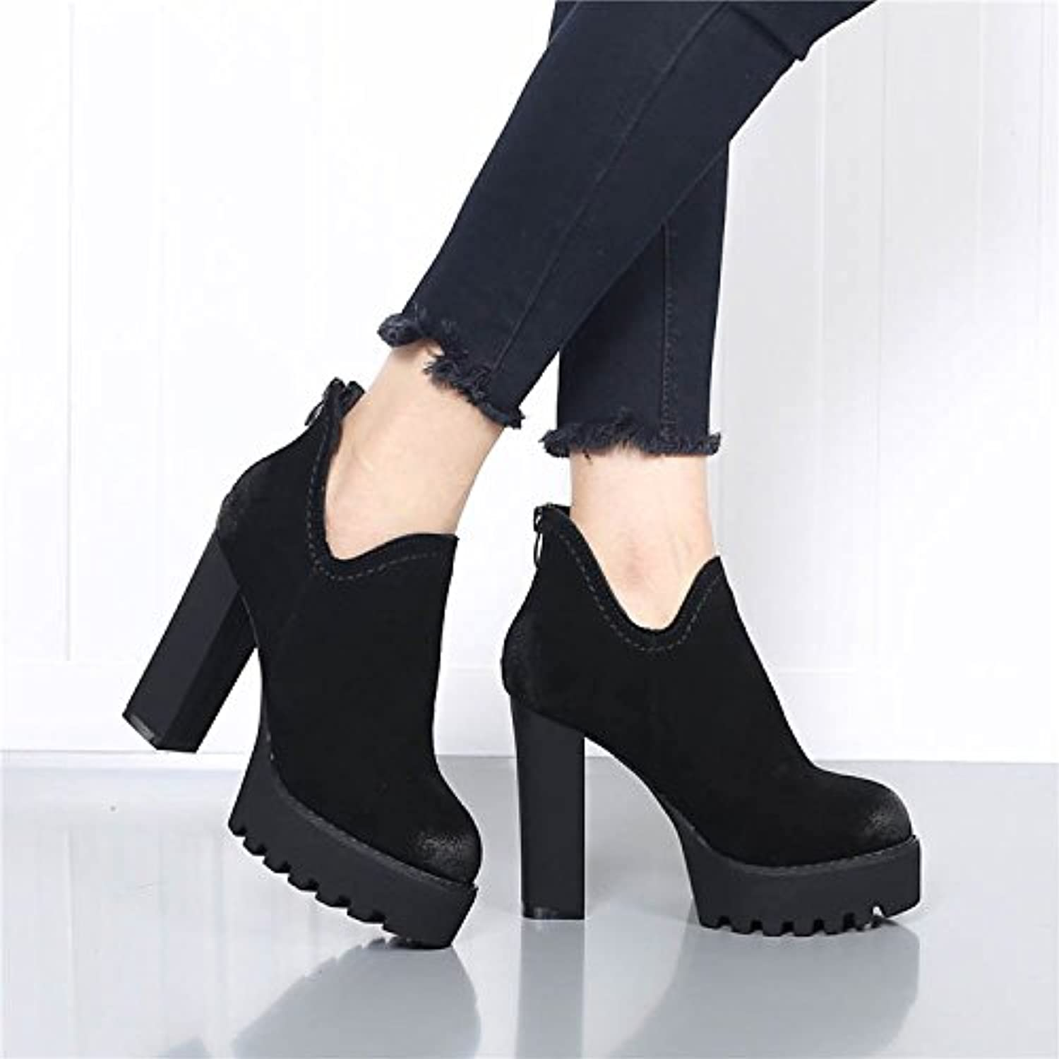 3ce9372ddb0c6 GTVERNH-Matte Leather Winter Women'S shoes Anti-Plush Leather ...