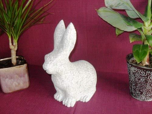 Der Naturstein Garten Hase aus echtem Granit 30 cm Höhe - Rabbit Kaninchen