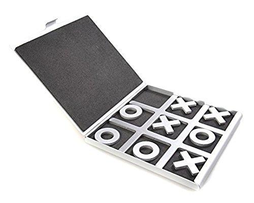 LZWIN Tic-Tac-Toe Alluminio Giochi da Tavolo con Viaggio Caso Bambini Il Regalo di Natale