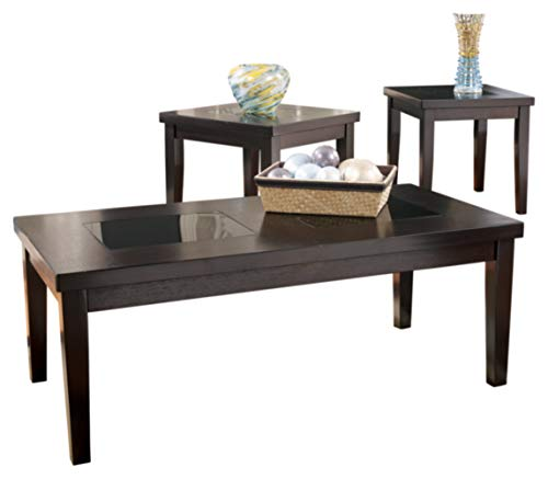Signature Design by Ashley - Denja Occasional Table Set - Includes Cocktail Table & 2 End Tables, Dark Brown