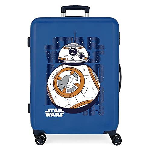 Star Wars Droids Maleta Mediana Azul 48x68x26 cms Rígida ABS Cierre de combinación Lateral 70 3 kgs 4 Ruedas Dobles