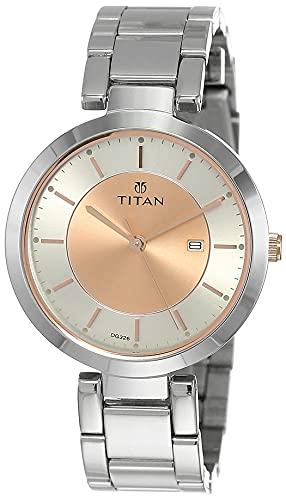 Titan Ladies Neo-Ii Analog Rose Gold Dial Women's Watch-NK2480KM01
