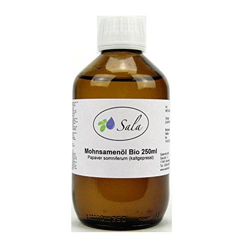 Sala Mohnsamenöl Mohnöl kaltgepresst bio 250 ml Glasflasche