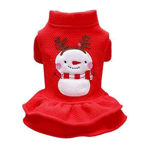 Handfly Trajes de Gato para Perros navideños Disfraz de Perro Muñeco de Nieve Trajes de Gato Abrigo de Perro de Invierno Suéter de Perro navideño Jerséis de Gato Ropa de Chihuahua