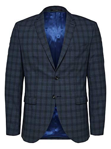 SELECTED HOMME Herren SLHSLIM-MYLOLOGAN BLZ B NOOS Anzugjacke, Mehrfarbig (Navy Blue Checks: Navy), (Herstellergröße: 52)