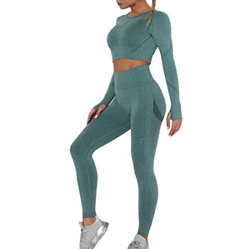 OEAK Vêtement de Sport Femme 2 Pièces Survêtements Ensembles Soutien-Gorge Sport Legging de Yoga Sportswear Fitness Ensembles d'entraînement Tenues de Sport