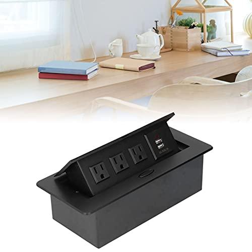 Zócalo de escritorio, diseño sofisticado Fácil de usar Zócalo de puerto USB dual Gran flexibilidad para el ingeniero para la fábrica