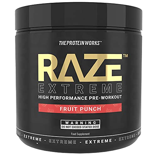 The Protein Works Raze Extreme Pre-Workout Powder   Advanced Pre-Workout   Fruit Punch 360 g