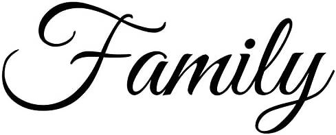 Family Decal Large Wall Quotes Sticker 22 x 9 inches Vinyl Wall Art Letters Home Accent and product image
