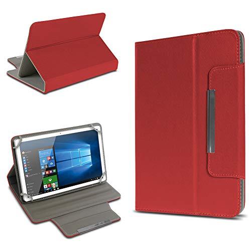 UC-Express Tablet Tasche für Trekstor Surftab Breeze 7.0 Quad Hülle Hülle Schutz Cover Schutzhülle Etui Kunstleder Universal Standfunktion, Farbe:Rot
